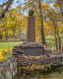 Hemingway Memorial in Fall, Sun Valley, Idaho