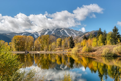 Sun Valley Lake & Baldy in Fall