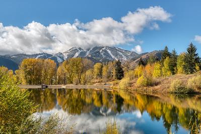 Sun Valley Lake & Baldy in Fall