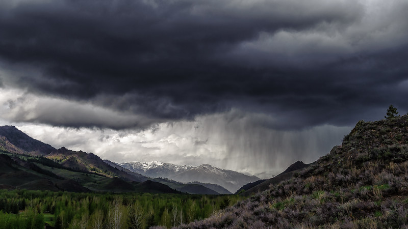 Boulder Mountains Spring Rain