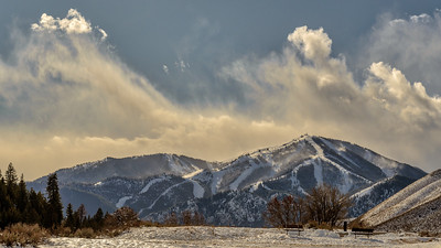 Bald Mountain From Trail Creek, Sun Valley, Idaho