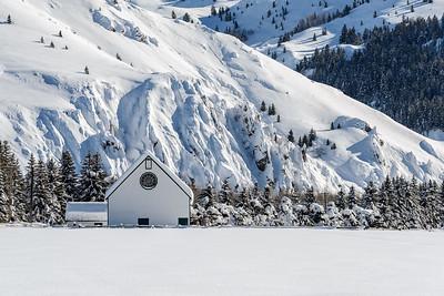 Reinheimer Barn Winter, Sun Valley, Idaho