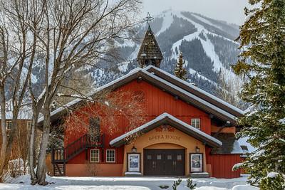 Sun Valley Opera House and Bald Mountain, Idaho