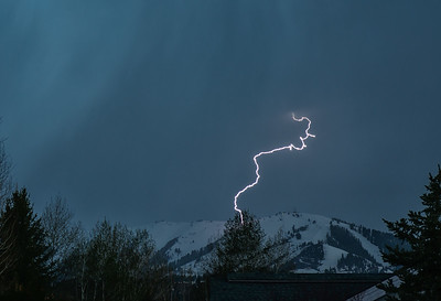 Lightning Strikes Sun Valley's Bald Mountain