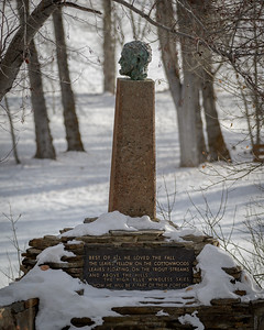 Hemingway Memorial Late Fall, Sun Valley, Idaho