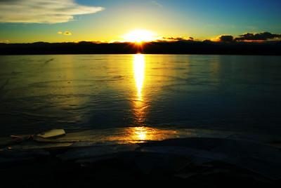 Sunset on Sloan Lake