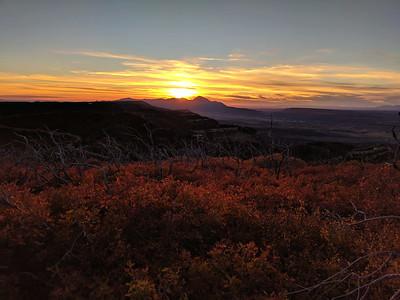 Sunset over Ute Mountain, Mesa Verde