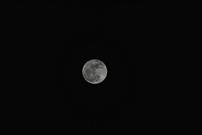 Super Moon, 2011-03-19, B&W