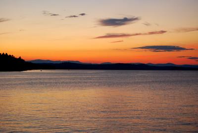 Sunset on Long Lake, Maine