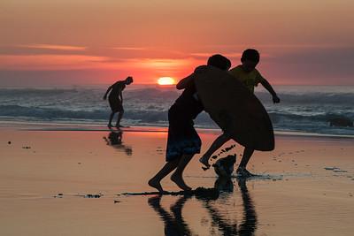 Sunset at Asilomar Beach CA