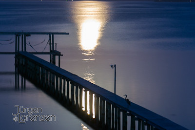 Moonrise over Dock, St Joseph Bay