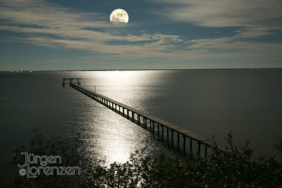 Moonrise over St. Joseph Bay