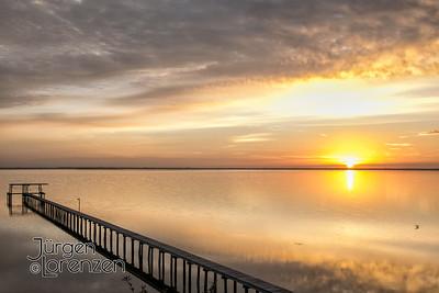 Sunrise over Dock,  St Joseph Bay