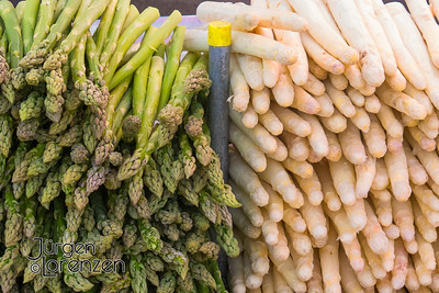 Asparagus at German Market in May