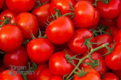 Vine Tomatoes at German Market in May