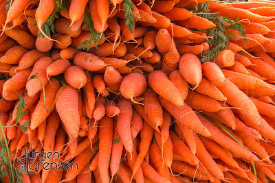 Carrots at German Market in May