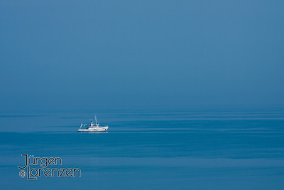Ship on Horizon, English Channel from Normandy