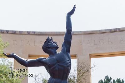 Spirit of American Youth statue at Normandy American Cemetery