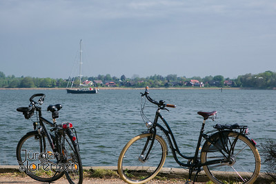 Bicycles on die Schlei at Arnis, Germany