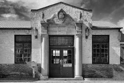 Union Pacific Station, Shoshone, Idaho - B&W