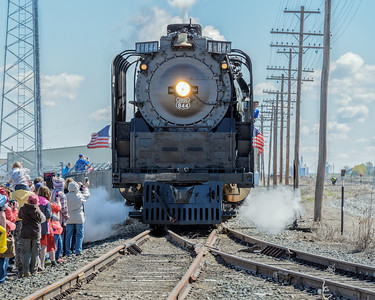 Union Pacific 844 Living Legend Arrives Gooding, Idaho