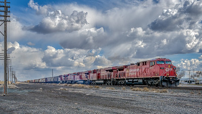Canadian Pacific Freight Train, Shoshone, Idaho