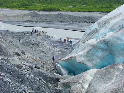 Humanity Meets Exit Glacier, Alaska