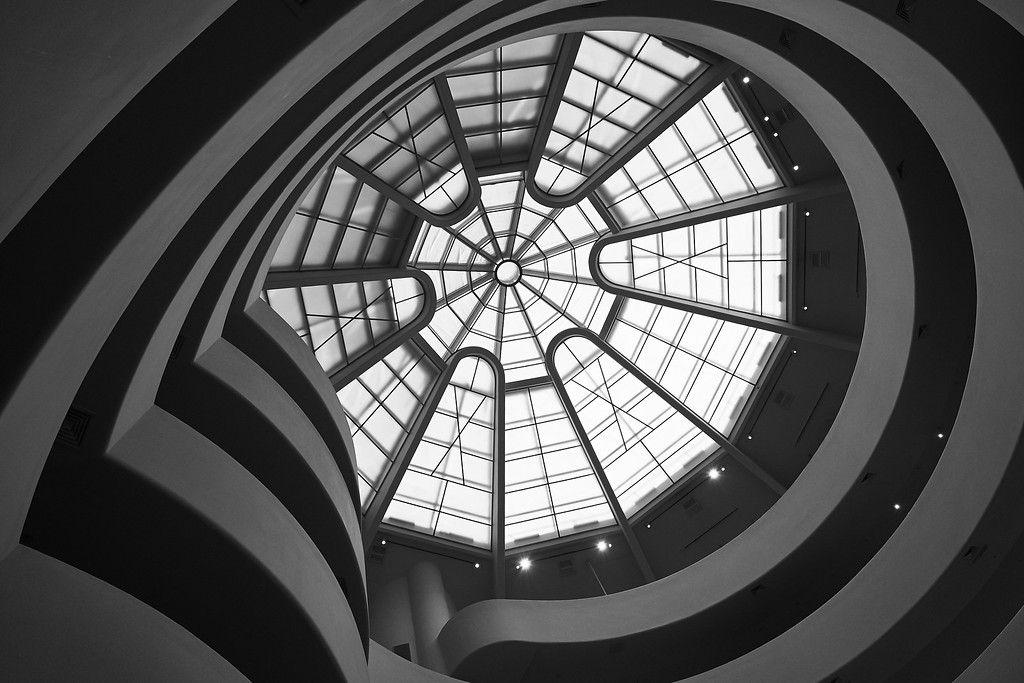 Looking up in the Guggenheim