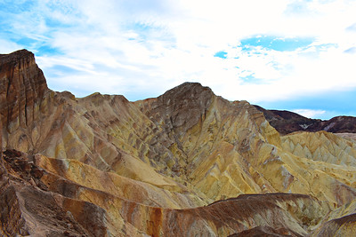 Red Cathedral & Top of Golden Canyon, Death Valley National Park