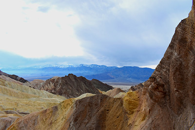 Red Cathedral Viewpoint across the Valley and Panamint Mountains, Death Valley National Park