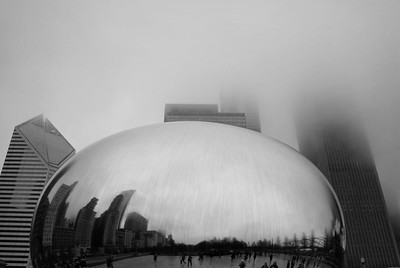 Chicago's Cloudy 'Cloud Gate'