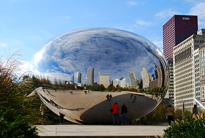 'Cloud Gate' Sculpture by Indian-born British artist Anish Kapoor
