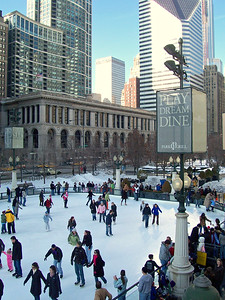 Wintry Fun on Chicago's Millenium Park Ice Rink