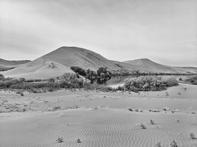 Main Dune, Bruneau Dunes State Park, B&W