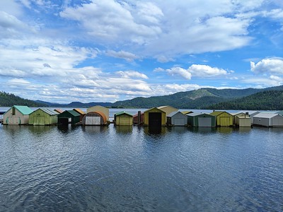 Boat Houses on Chatcolet Lake, Idaho