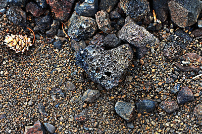 Heart-shape Lava, Craters of the Moon