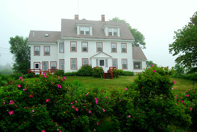Situated in Fog, Oceanside Meadows Inn, Prospect Harbor, Maine