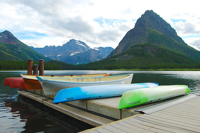 Many Glacier Boat Dock