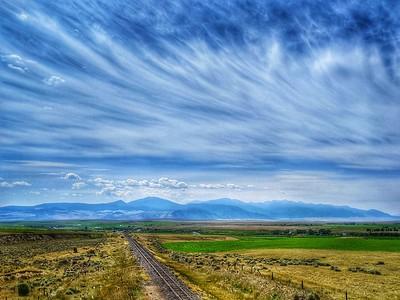 Tobacco Root Range & Railroad Tracks, Montana