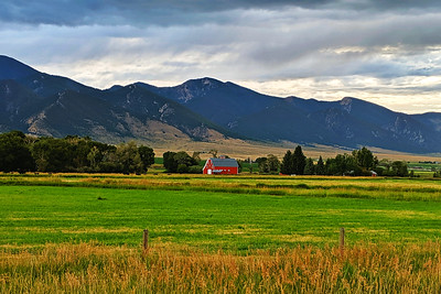Red Barn in Ruby Valley, Montana