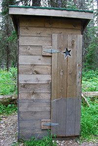 Many Glacier Outhouse with Star