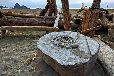Sacred Beach Spiral, Harris Beach Oregon.