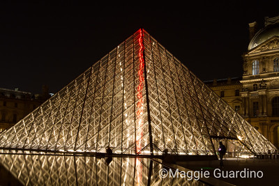 Nighttime At the Lourve