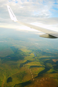 Flight over Scotland from Sweden
