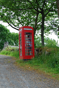 Red Phone Booth, Roadside, Isle of Skye, Scotland