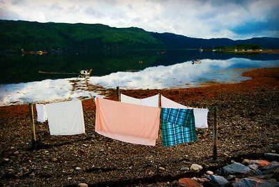 Laundry Day at Low Tide