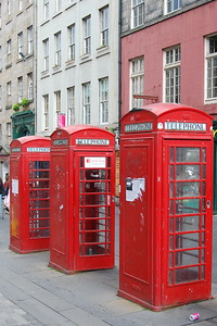 Red Phone Booths, Edinburgh, Scotland