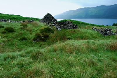 Crofter's Cottage Ruins, Stromenach, Slumbay, Lochcarron, Scotland
