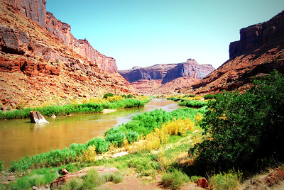 Upper Colorado River along Utah Route 128