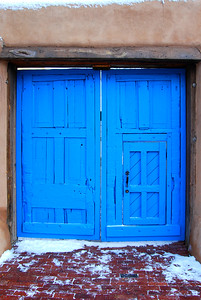 Santa Fe Blue Door near the Plaza